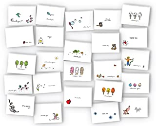 Sugartown Greetings Thank You Notes Variety Pack - 24 Unique Cards with Envelopes