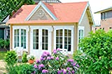 Alpholz Gartenhaus Clockhouse-28 - Holzhaus mit 5 x Fenster -