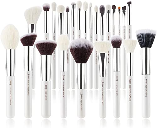 Jessup Brand 25pcs Professional Makeup Brush set Beauty Cosmetic Foundation Power Blushes eyelashes Lipstick Natural-...