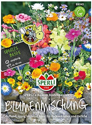 88045 Sperli Premium Blumenmischung Samen Balkon | Balkonblumen Samen Mischung | Blumen Saatgut | Blumen Samen | Wildblumen