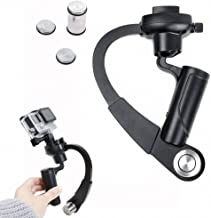 Mekingstudio 3-Axis Inertia Mini Handheld Video Stabilizer Gimbal Stabilizer Support Gyro Stabilizer with Curve Grip for GoPro Hero 6 5 4 3 Session SJCAM SJ4000 Yi 4K Action Camera Camcorder