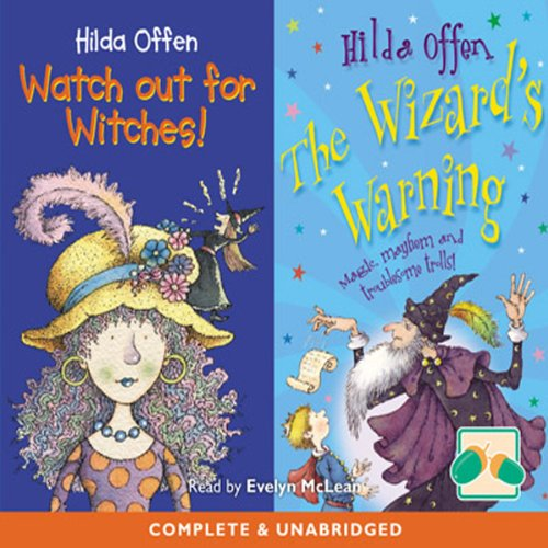 Watch out for Witches! and The Wizard's Warning! cover art
