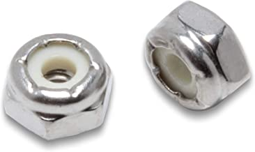 #6-32 Stainless Hex Lock Nut (100 Pack), by Bolt Dropper, 304 (18-8) Stainless Steel Lock Nuts