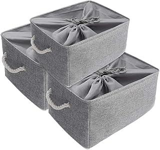 Mangata Super Grande Set di Cesti di Stoccaggio in Tessuto 50 x 40 x 30 cm, 3 scatole di stoccaggio Pieghevoli per scaffal...