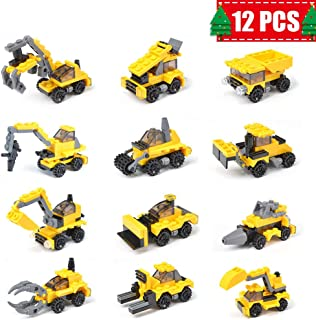 EZIGO Construction Vehicles Toy Set 12 Packs Mini Assorted Construction Truck Car Toy for Boys Toddlers Kids as, Birthday Party Favors Supplies, Cake Decoration Toppers, Educational Toys