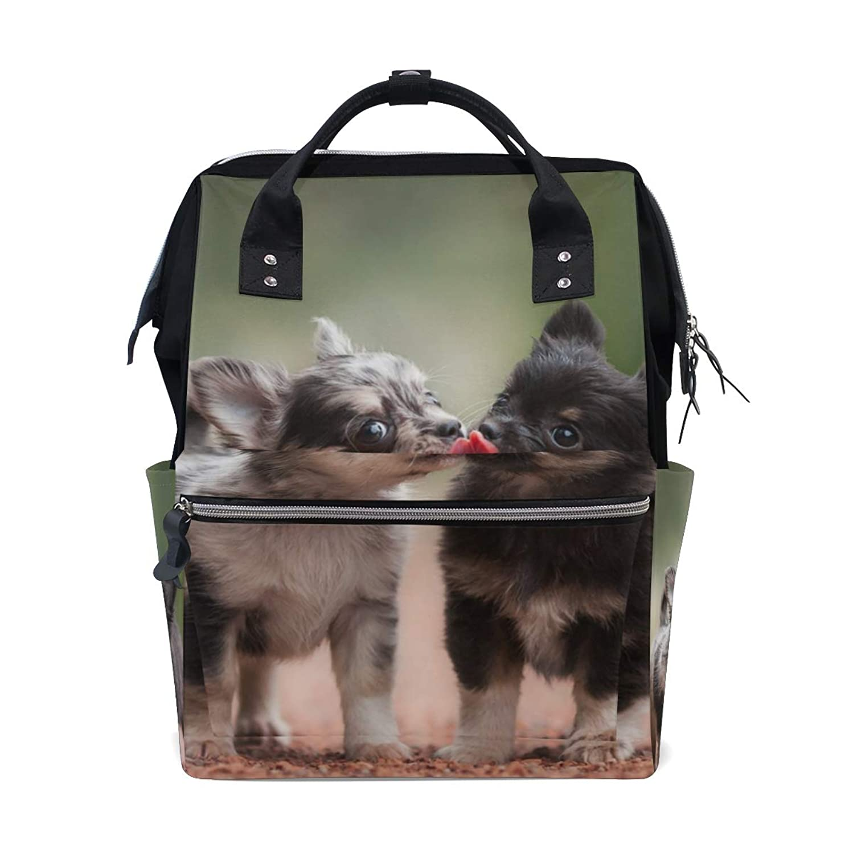 Cute Dogs Puppies School Backpack Large Capacity Mummy Bags Laptop Handbag Casual Travel Rucksack Satchel For Women Men Adult Teen Children