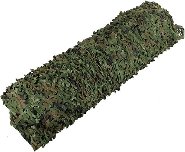 ZEMIN Filet D'ombrage Défense Aérienne Camouflage Jungle Verdissement Sécurité Aménagement Paysager à Thème, Taille Personnalisable (Couleur   Vert, Taille   6x8m)