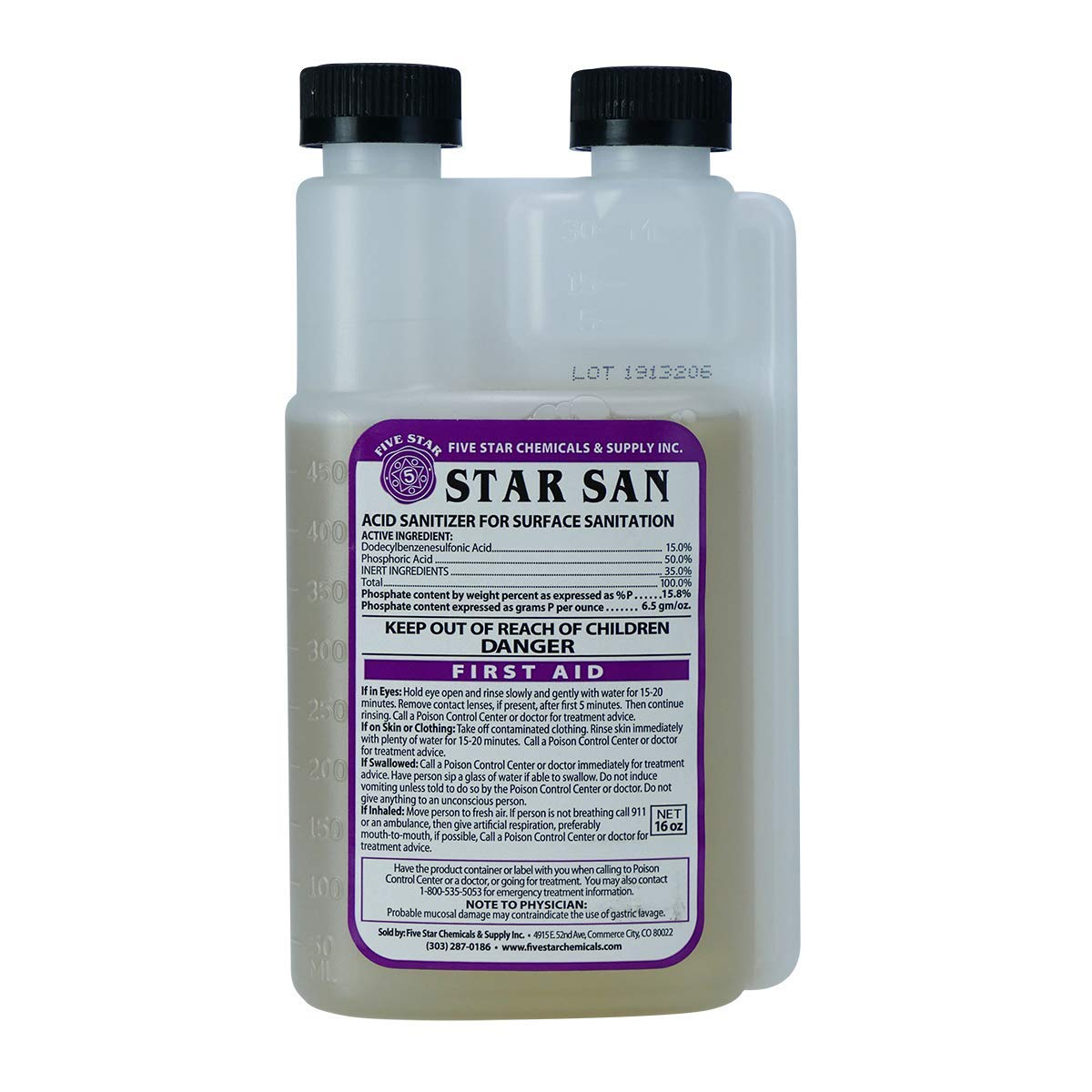 Five Star - San 16 low-pricing Ounce Foaming Brew Ac Sanitizer High 5 popular