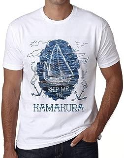 Men's Vintage Tee Shirt Graphic T Shirt Ship Me to Kamakura White