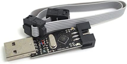ARCELI USBASP USBISP AVR USBasp_H6 Programmer + 6 pin Cable Ideal Support Win7 Win10 Linux