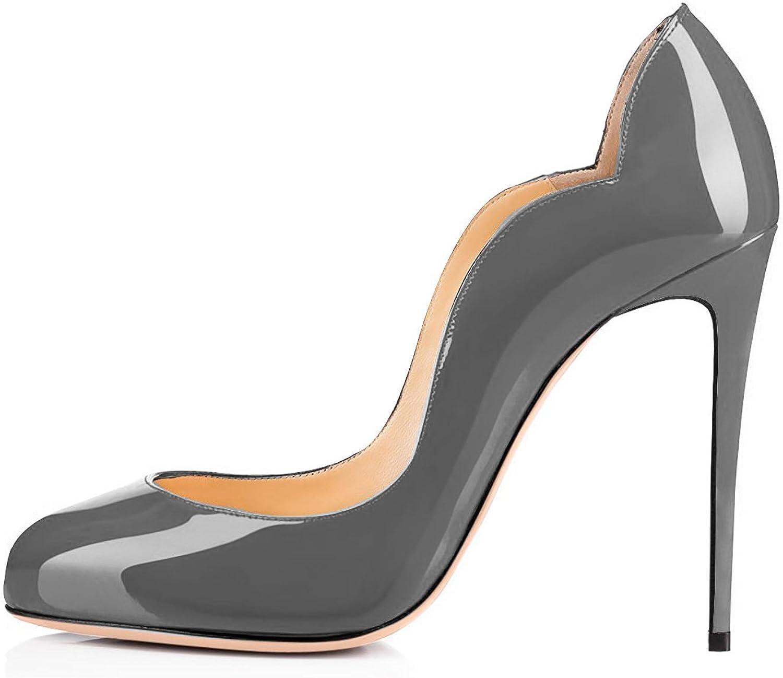 AIWEIYi Women's Fashion Round Toe Stiletto High Heels Party Dress Pumps