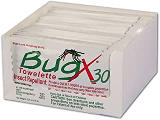 Bug X Insect Repellent Towelette, 2 Pack