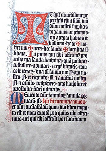 Mainz Psalters and Canon Missae, 1457-59 (Bibliographical Society S.)