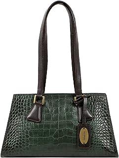 Hidesign Women's Handbag(CROCO EMERALD)