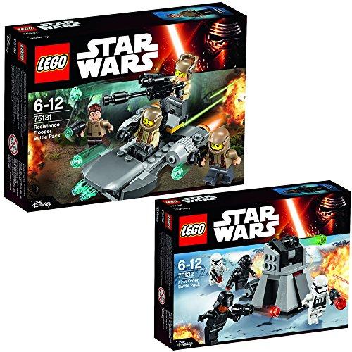 Lego Star Wars 2er Set 75131 75132 Resistance Trooper Battle Pack + First Order Battle Pack