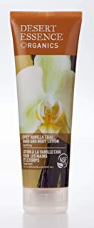 Desert Essence Spicy Vanilla Chai Hand & Body Lotion - 8 Fl Ounce - Uplifting - Smoothes & Softens Skin - No Greasy Residu...