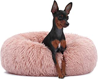 Neekor Cat Dog Beds, Soft Plush Donut Pet Bedding Winter Warm Sleeping Round Fluffy Pet Calming Bed Cuddler for Puppy Dog...