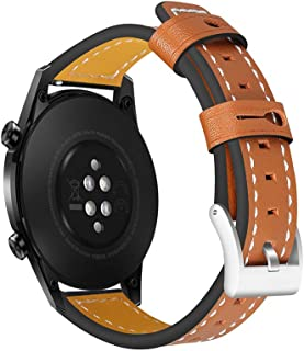 22mm Leather Watch Strap Quick Release Replacement Watchband Smart Watch Band for Men Women Compatible with HUAWEI WATCH G...
