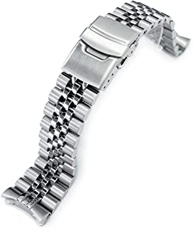 Super 3D Jubilee Replacement Bracelet for Seiko SKX007 22mm 316L SS Watch Band