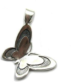 Ciondolo in argento massiccio 925 farfalla PE001342