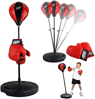 Cocoarm Adjustable Height Training Boxing Ball Set, Kids Punching Ball Bag Speed Boxing Sports Set Fighting Gamewith Punching Ball and Kids Boxing Gloves