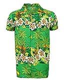 Camisa hawaiana para hombre, estampada, para la playa, fiestas de verano y vacaciones, tallas...