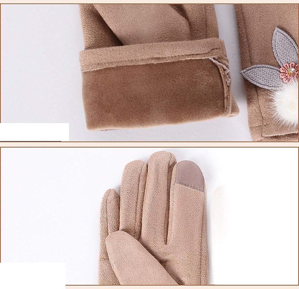 Eliffete Womens Touch Screen Winter Gloves Windproof Fleece Lined Warm Mittens