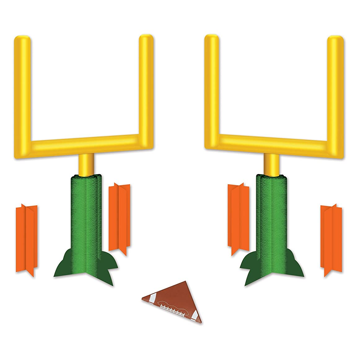Beistle 54884 3-D Football Goal Post Centerpieces (2 Pack), 11