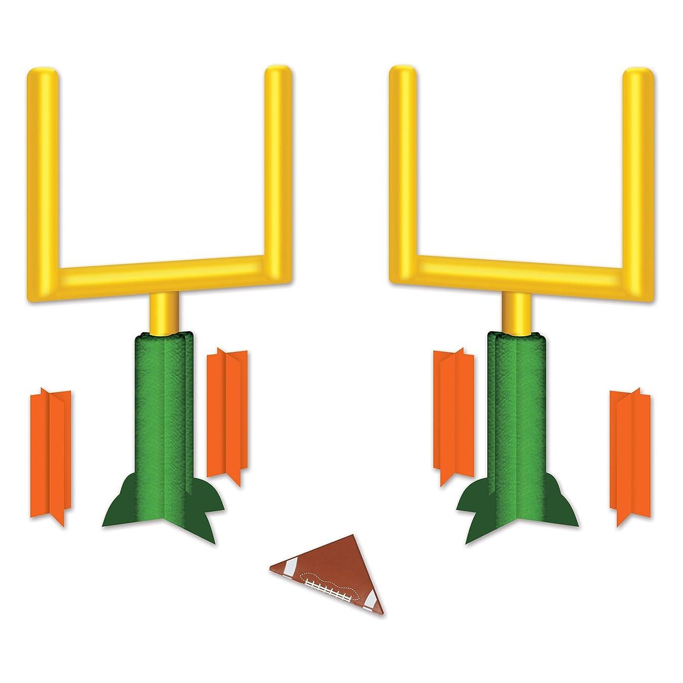 Beistle 54884 3-D Football Goal Post Centerpieces (2 Pack), 11
