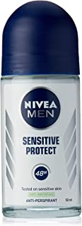 NIVEA MEN Sensitive Protect Roll On Anti-Perspirant Deodorant, 50ml