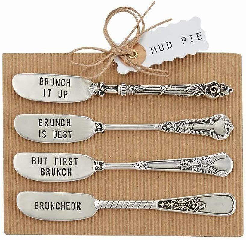 Mud Pie Circa Metal Stamped Brunch Spreader Set