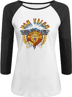 Women's Van Halen Logo Half Sleeve Baseball Jersey Fashion Fitted Shirts