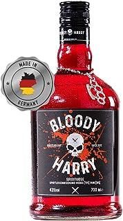 BLOODY HARRY Premium Rum - Vodka Spirituose | MADE IN GERMANY | 43% Vol. | Spirituose Mit 30% Jamaica Rum und 70% Vodka | Von Hand Veredelt Im Schwarzwald | Perfekte Geschenkidee | 0,7 Liter