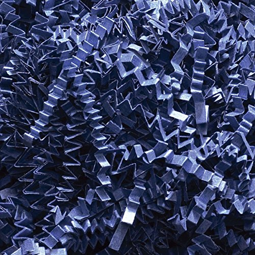Marineblau Wellenschnitt Geschreddertes Papier, 500 g