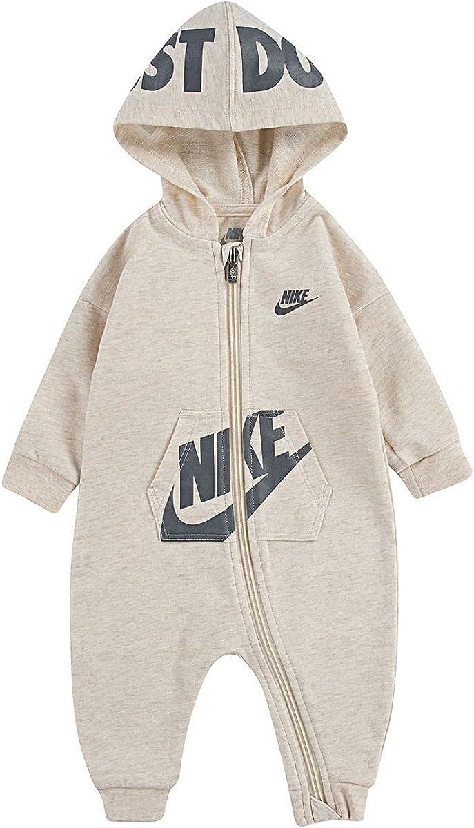 Nike Baby Boy Full-Zip Long Sleeve Hooded Coveralls