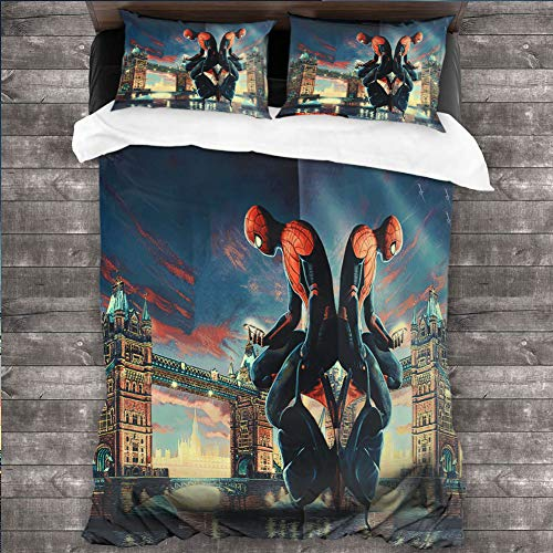 Loruoaine Quilt coverspiderman Tower Bridge 9tBed Quilt Pillow Cover