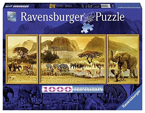 Ravensburger - Panorama tríptico: Viaje a Africa, Puzzle de 1000 Piezas (19375 2)