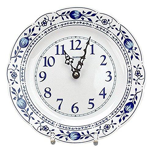 Zwiebelmuster Triptis Wanduhr Küchenuhr Uhr, Thüringer Porzellan, ca. 23.5 x 3 cm, 1 Stück
