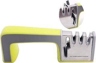 Household Knife Sharpener ,Heavy Duty 4-Stage Scissor Knife Sharpeners: (1)Independent Scissor Sharpeners(2)Sharpened Blun...