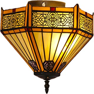 ZDHG Clásico Tiffany Lamparas Techo, Estilo Arabe Pantalla,Exquisita Decoracióndel Hogar, para Dormitorio Comedor Salon Recibidor Lampara Colgante (Diámetro: 30 Cm)