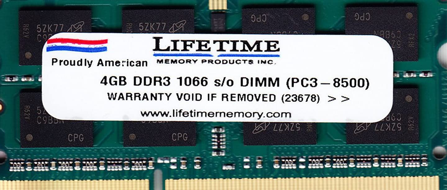 4GB DDR3 PC3-8500 1066mhZ SO-DIMM Memory RAM FOR Dell Inspiron 1764