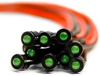 6v 3mm 100 x cableadas diodos LED soporte de plástico pre Wired amarillo difuso