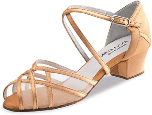 Anna Kern - Femmes Chaussures de de Danse 520-35 - Satin Bronze - 3,5 cm  marque