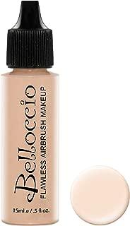 Belloccio's Professional Cosmetic Airbrush Makeup Foundation 1/2oz Bottle: Alabaster