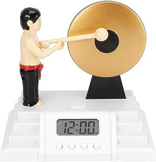 Digital Alarm Clock, LCD Digital Alarm Clock, Playing Gongs Interaction Desktop Table Clock for Home Bedroom Gift for Holi...