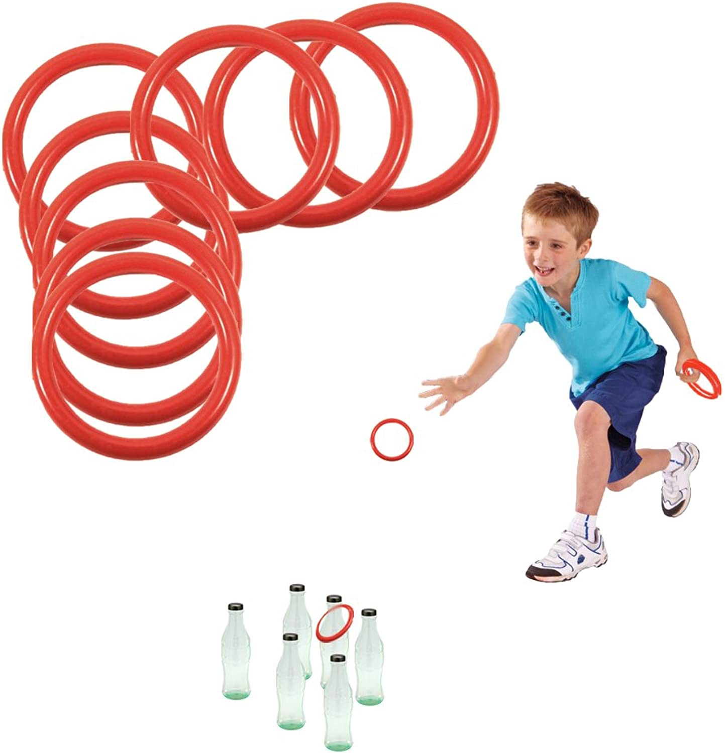 Toy Cubby's Ring Toss Ringabottle Game Set, 2.5 Inches, 12 Pcs