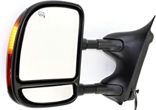 Kool Vue FD89EL Ford F-Series Super Duty/Excursion Driver Side Towing Mirror, Double-Swing Type