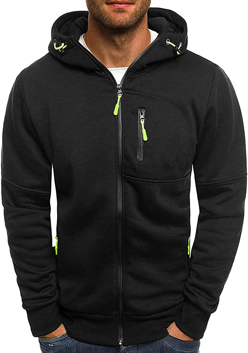 PrettyChic Safety and Max 57% OFF trust Men's Zipper Hooded Jacket Casual Softshell lightwear