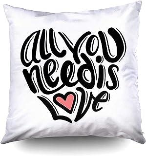 Ducan Lincoln Pillow Case 2PC 18X18,Funda De Almohada Suave,Fundas De Funda De Almohada De Tiro Cuadrado,Generada Digitalmente Todo Lo Que Necesitas Amor Cojín De Ambos Lados