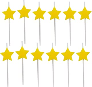 Dept. 67, 12 Pack, Star Birthday Candles, Cake Topper, Cupcake Toppers, Cake Decorating Supplies, Bulk Party Supplies for Kids and Adults